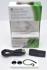 GENUINE Microsoft XBox 360 Wireless Bluetooth Headset BLACK Ear 22J-00001 gaming