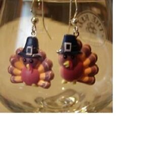 Turkey earrings (4 styles to choose from)  Thanksgiving Ear Decorations by Robyn