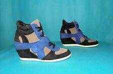 baskets sneakers ASH en daim bleu, noir ,beige pointure