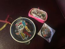 3 Vtg New Orleans Souvenirs Tambourine Bag w/ Games Ashtray Louisiana La Travel