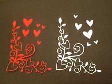 8 x Loveland Corner die cuts ideal for Valentine / Wedding **FREE UK POSTAGE**
