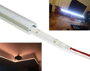 6/12pcs 1M LED Aluminum Channel System Extrusion Track Profile LED Strip Lights