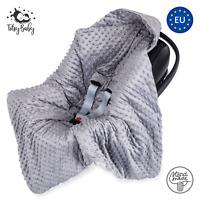 Einschlagdecke für Babyschale Maxi Cosi Babydecke Kinderwagen Decke Fußsack grau