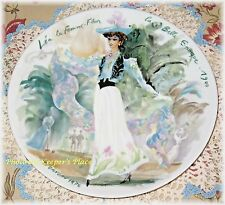 D'Arceau Limoges Lea 1900 Women Of The Century Pattern Porcelain Ganeau Plate