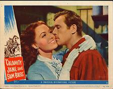 CALAMITY JANE AND SAM BASS original 1949 lobby card DOROTHY HART/HOWARD DUFF