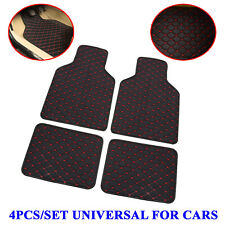 4PCS Universal Car Auto Floor Mat Quilted Design Waterproof Liners Carpet Pad