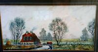 Original John Tookey Watercolour and Ink Landscape Painting Darenth Kent c 1960s