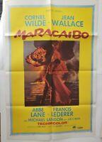 "MARACAIBO 1958 Original Movie Poster One Sheet 27"" x 41"" Jean Wallace"