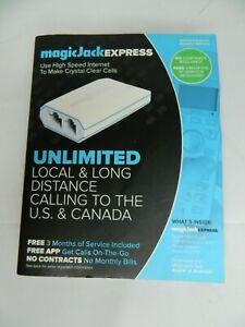 Magic-jack Express Digital Phone Service - White Damaged Box