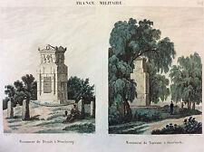 Napoléon Bonaparte Empire bataille napoléonienne monument Desaix Turenne 1837