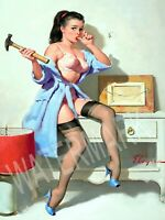 Pin - Up The Wrong Nail Gil Elvgren High Quality Metal Magnet 3 x 4 inches 9510