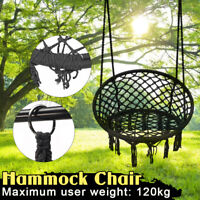 Hanging Cotton Rope Macrame Hammock Chair Swing Outdoor Home Garden 120kg USA
