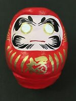 Mini Daruma Happy Invited Dharma Tumbling Doll Red 55mm Good Luck MADE IN JAPAN
