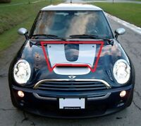 NEW GENUINE MINI COOPER R53 S CHECKMATE HOOD BONNET DECAL SILVER 7168894