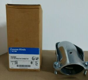 """Crouse Hinds 741DC Die Cast Zinc Non-Insulated 90 Degree Connector 1.5"""""""