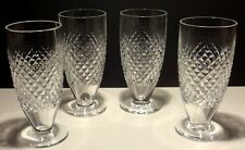 4 VINTAGE WATERFORD ALANA FOOTED ICED TEA BEVERAGE GLASSES  ~ OLD GOTHIC MARK