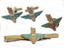Parachute Regiment Gift Set Cufflinks, Lapel Badge Tie Clip