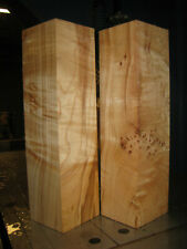 2 FIGURED BIG LEAF MAPLE WOOD TURNING LUMBER 3 x 3 x 11-1/2 PEPPERMILL BLANK