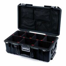 Black Pelican 1535 Air Case. trekpak divisori, TSA serrature di bloccaggio, & Mesh Org.