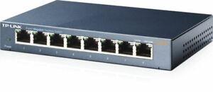 TP-Link TL-SG108 8-Port Gigabit Desktop LAN Networking Switch UK Plug