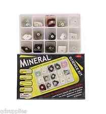 Kit Ciencia mineral 15 Piedras Rocas & Gemas para identificar Geología Conjunto de Regalo TY8800