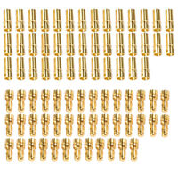 80 Pcs 3.5mm Gold-plated Bullet Banana Plug Connector RC Battery Male&Female MIR