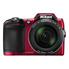 Nikon Coolpix L840 16 MP Digital Camera 38x Optical Zoom Red Full-HD WiFi/ NFC
