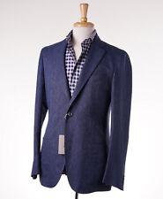 NWT $3575 BRIONI Woven Blue Wool-Linen-Silk Unstructured Blazer 40 R Sport Coat