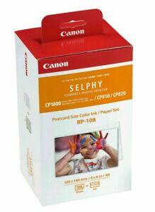 Canon RP-108 Colour Ink & Photo Paper for  Selphy CP910 CP820 CP1000 CP1200