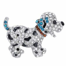 Christmas Brooch Pins Rhinestone Crystal Lovely Dog Party Children Jewellery