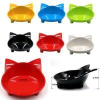 Pet Dog Cat Food Wide Dish Non-Slip Cat Shape Cats Feeding New