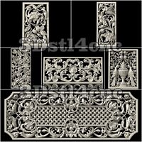 7 3D STL Models Screens for CNC Router Carving Machine Artcam aspire Cut3D