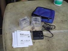 Sony Mz-Ne410 Portable Pocket Size MiniDisc Recorder bujndle w 9 Discs Manual