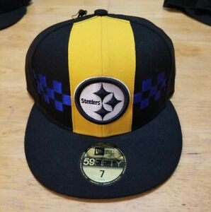 Pittsburgh Steelers Men's New Era Fitted Hat Size 7 City Flag NFL new NWT