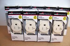 Qty 9 Cooper TR1877 Tamper Resistant Child Safety Electrical Outlets Receptacle