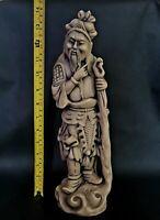 Huge Antique Chinese Tibetan Oriental Monk Statue Figurine 36cms Tall 2Kg Heavy