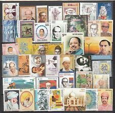 India Unmounted 2004 Mint 55 Complete Year Set Includes all 6 Setenants Stamps