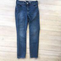 Pilcro and the Letterpress sz 26 High Rise Skinny Jeans Raw Hem Women's Denim