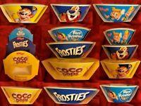 Shreddies Rice Krispies Coco Pops Frosties Breakfast Cereal Bowl Plastic New