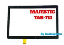 TOUCH SCREEN+VETRO ORIGINALE MAJESTIC per TAB-711 + BIADESIVO NERO TAB711