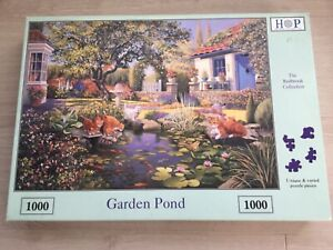 GARDEN POND 1000 PIECE COMPLETE JIGSAW PUZZLE (THE HOUSE OF PUZZLES)