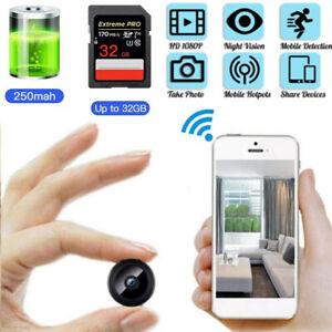 Mini WiFi Hidden DVR Spy Camera HD 1080P Night Vision IP Home Security Wireless