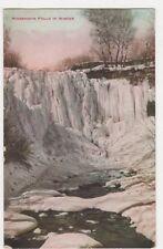 USA, Minnehaha Falls in Winter Postcard, B241