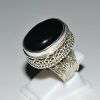 Black Onyx Handmade Ring 925 Solid Sterling Silver Jewelry Women