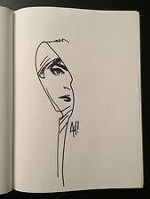 Adam Hughes GHOST Original Comic Sketch SIGNED Dragon Con 98 Marvel Wonder Woman