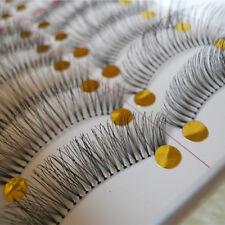 Gestreckt dicht Künstlich Wimpern 10 Paare Natur Schwarze kreuzende Makeup Augen