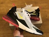 NIKE AIR MAX 270 UK14 EUR49.5 US15  BLACK PINK VOLT MENS NEW AH8050-109