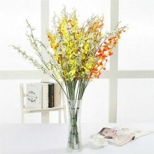 Artificial Silk Fake Flowers Orchid Faux Autumn Wedding Bouquet Decoration DIY