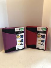 2 X Five Star Zipper Binder 15 500 Sheet Capacity Red And Purple New