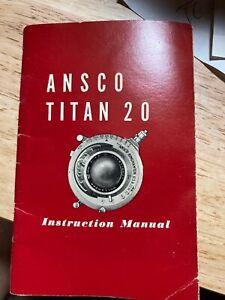 Ansco Titan 20 Manual C-8598 5-46